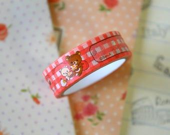 01 Rilakkuma Bear Cartoon Washi Masking Tape