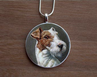 Terrier Pendant Necklace, Terrier Necklace, Dog Necklace, Handcrafted Jewelry, Gift for Dog Lovers, Free Shipping in US