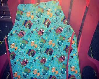 Child's Reversible Apron Monsters In My Closet