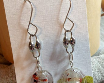 Fabulous dangle earrings with artisan wires, vintage silver findings, and vintage murano glass beads