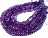 Semiprecious Beads, Amethyst (African) Smooth Roundel (Quality A+) / 8 to 10 mm / 36 cm / AMET-028