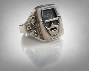 Breaking Bad HEISENBERG Portrait Ring Solid Sterling Silver 925