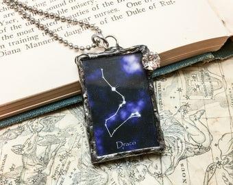 Draco Constellation Pendant with Swarovski Crystal