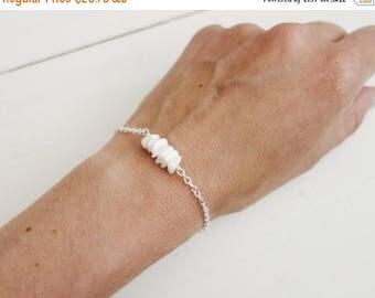 Summer Sale Chain bracelet agate bracelet white stone bracelet minimalist bracelet for women