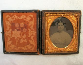 Full Case Ambrotype Pretty Young Girl