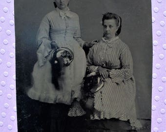 Tintype - Loving Mother & Daughter