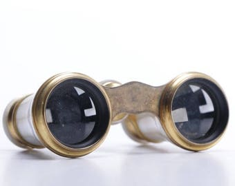 Early 20th Century Opera Glasses With Case