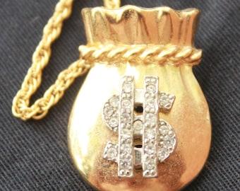 Money Bag Pendant Necklace