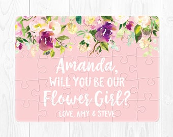 Flower Girl Puzzle Proposal Pink Ask Flower Girl Flower Girl Card Will You Be Our Flower Girl Puzzle Flower Girl Gift Flower Girl Proposal