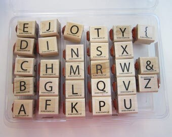 rubber stamps - SHORT ORDER ALPHABETupper and lower case - Stampin Up 2006 - used rubber stamps