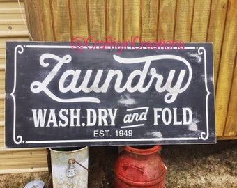 Laundry Sign, Magnolia Inspired