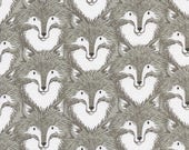 Cotton and Steel Magic Forest Grey Foxes by the Half Yard
