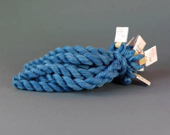 Hand-dyed embroidery yarn, natural dyes, merino thread, cobweb weight, embroidery floss, 20m, dyed with INDIGO, blue, 298