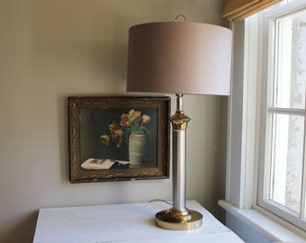 Modern Gold and Silver Lamp
