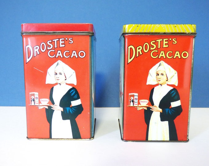 Vintage tins Nuns Droste's Cacao of Holland