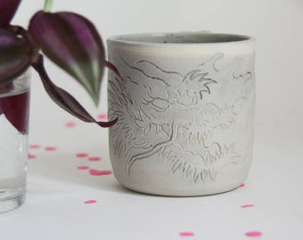 Japanese dragon tattoo mug - stoneware mug
