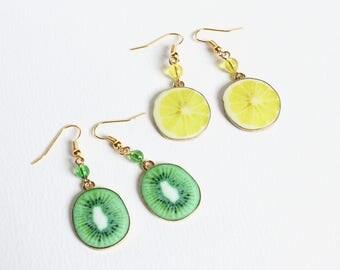 Kiwi or Lemon Earrings
