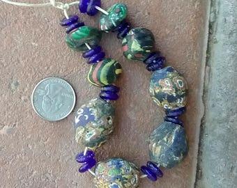 Refired Millefiori Beads