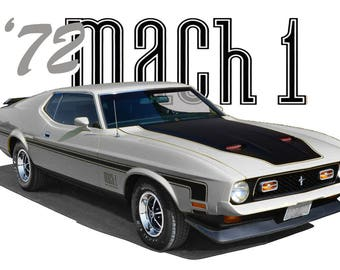 1972 Ford Mustang MACH 1 T-Shirt