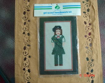 Girl Scout Needlework Kit - Counted Cross Stitch - ONS 1982