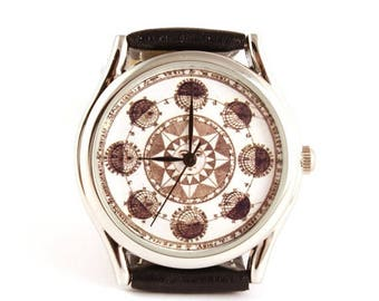 ON SALE 25% OFF Watch zodiac, Astrology, Astronomy, women watch, men watch, boyfriend watch