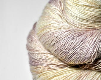 Faded field pansy OOAK - Tussah Silk Lace Yarn
