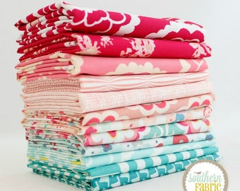 "Floral - Half Yard Bundle - 12 - 18""x44"" Cuts - by Mixed Designers Quilt Fabric"