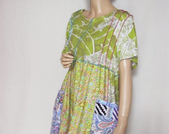 1X to 2X  Lime Green Summer Dress Pockets