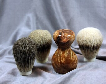 American Maple Burl Clear Shaving Brush Choose Badger Hair Brush Father's Day Gift Birthday Wet Shaving Brush Customize Brush Ready2Ship