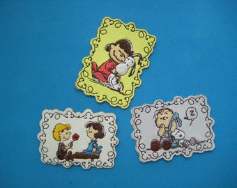 Self-Adhesive PVC Sticker/ iron-on Patch Snoopy Lucy Linus  Schroeder 2.5 inch