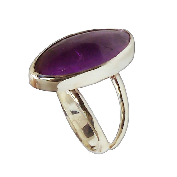 Amethyst and Sterling Silver Ring, Size 6-1/4  r625amte2956