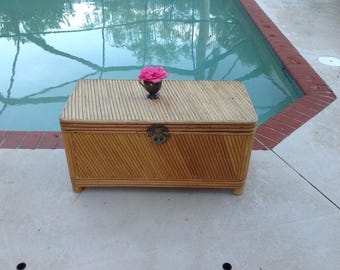 BAMBOO SPLIT Reed TRUNK Hollywood Regency Palm Beach Cottage style On Sale at Retro Daisy Girl