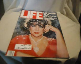 Vintage March 1982 Life Magazine Liz Taylor at 50, collectable