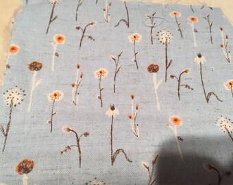 Kokka Far Far Away 3 Blue Meadow Flowers  set by Heather Ross 1/4 Yard