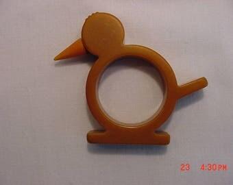 Vintage Butterscotch Bakelite Bird Napkin Holder 17 - 890