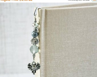 ON SALE Mini Bookmark Metal Bookmark Book Charm Beaded Bookmark Book Lover Reader Gift Book Worm Book Bling Elephant Bookmark Reading Tool