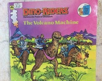 SUMMER SALE 1988 Dino-Riders The Volcano Machine 80s Kids Picture Book Cartoon Golden Books 80s Boys Tyco