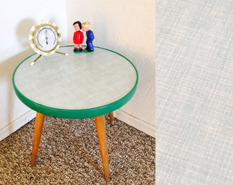 Vintage Plant Table Mid Century Display Table Side End Table German Space Age Planter Retro