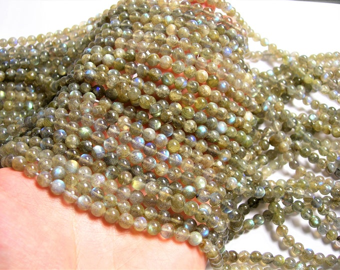 Labradorite - 6mm(5.7mm) beads -1 full strand - 68 beads - A quality - RFG141