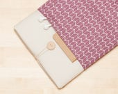 iPad sleeve, iPad Pro 10.5 case / iPad cover / iPad Pro 9.7 case /  padded  - Chevron mauve