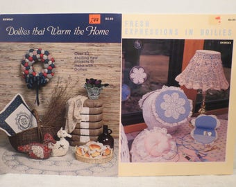 Doilies that Warm the Home & Fresh Expressions in Doilies Booklets 1985