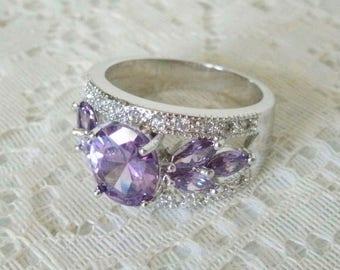 Amethyst Ring, amethyst jewelry victorian jewelry art deco jewelry renaissance art nouveau edwardian ring neo victorian ring art deco ring