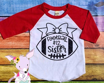 Football Sister Shirt Number Football Sis Shirt Football Girls Team Shirt Football Girls Number Little Sister Big Sister Football Shirt Girl