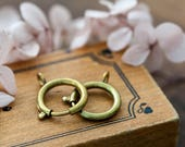 Large Vintage Clasps Solid Brass Patina Spring Ring Clasps 18mm