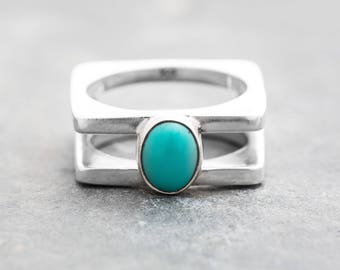 NEBULOUS ENCHANTED LOVE Pool Blue Solid Color Turquoise Ring