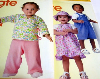 Simplicity Sewing Patterns-It's Sew Easy- Baby Patterns-Hat, Rompers, Top, Pants and Blanket Wrap Size XXS-L Out of Print