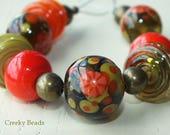 "Handmade lampwork beads ""Zing"" Creeky Beads SRA"