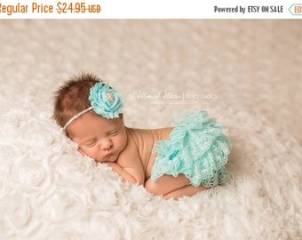 ON SALE Bloomer Set, bloomer with headband, baby bloomers, newborn bloomers, ruffle bloomers, newborn photo prop