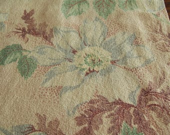 Fabric Drapery Piece Barkcloth For Pillows/Projects Floral 23 x 32