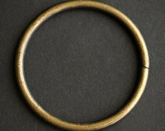 61mm Jump Ring. HUGE Antique Bronze Jump Ring. Bronze JumpRing. Open Jump Ring. Recycled Vintage Finding.